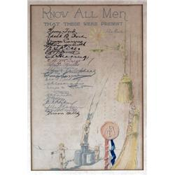 Unique Henry and Edsel Ford Signed Document.