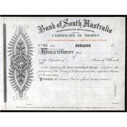 Bank of South Australia, Specimen Stock.