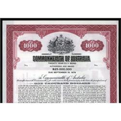 Commonwealth of Australia Specimen Banknote.