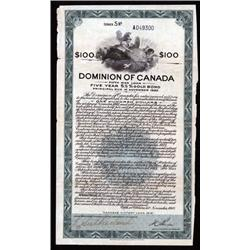 "Canada. Dominion of Canada ""Canada's Victory Loan 1918""  Fifth War Loan."