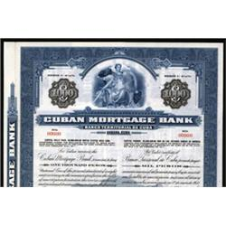 Cuban Mortgage Bank, Specimen Bond.