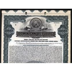 Dominican Republic Specimen Bond.