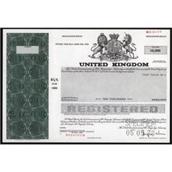 Government of the United Kingdom Bond Specimen.