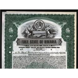 Free State of Bavaria Specimen Bond.
