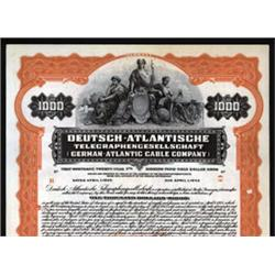 German Atlantic Cable Company Specimen Bond.