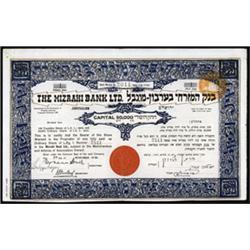 The Mizrahi Bank Ltd., Palestine.