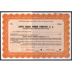 Santa Maria Timber Company, S. A.