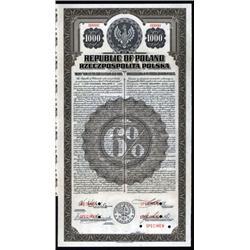 Republic of Poland - U.S. Dollar Specimen Gold Bond.