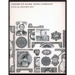 American Bank Note Company Annual Report Collection.