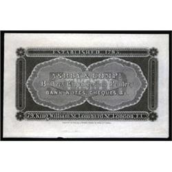 Ashby & Co., Bankers' Engravers and Printers, London, Early Advertising Banknote.