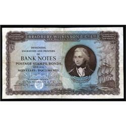 Bradbury, Wilkinson & Co. Ltd. Advertising Banknote.