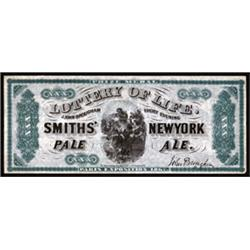 Smiths' New York Pale Ale Advertising Banknote.