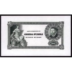 "Switzerland - Art Institut ""Orell Fussli"" Advertising Banknote."