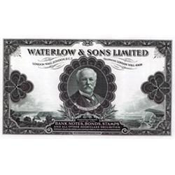 Waterlow & Sons Limited Advertising Note and Paper Sample.