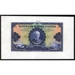 Waterlow & Sons Limited Advertising Note.