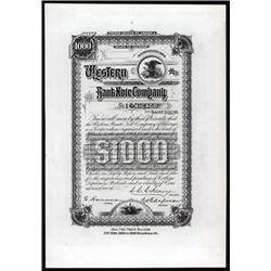 Western Bank Note Company Bond Format Advertising Note.