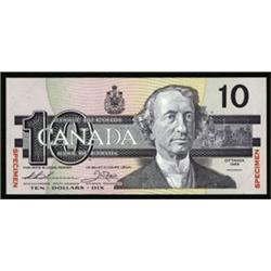 Bank of Canada, 1986-91 Issue Specimen Banknote.