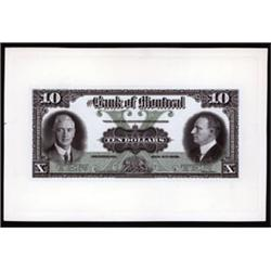Bank of Montreal Proof Banknote.