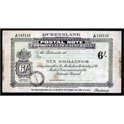 Commonwealth of Australia, Queensland Postal Note, Territory of Papua.