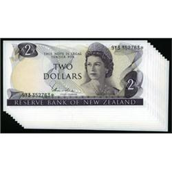 Reserve Bank of New Zealand, 1967 ND Issue Replacement Notes.