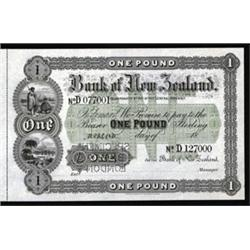 Bank of New Zealand, 1870, 1873 Issue Specimen.