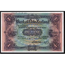 Bank of New Zealand, 1916-21 Regular Issue Specimen.
