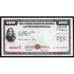 U.S. Savings Bond, Series E Pair.