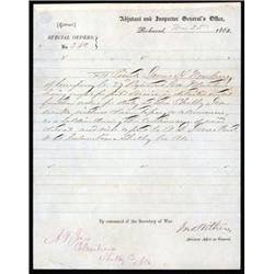 Confederate States - Adjutant and Inspector General's Office , Special Orders for Shelby Iron Compan