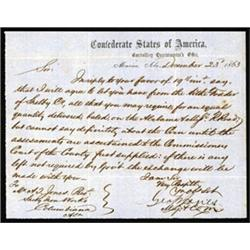 Confederate States of America, Controlling Quartermaster's Office, Correspondence for Shelby Iron Co
