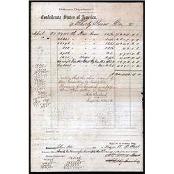 Confederate States, Ordinance Department Voucher.