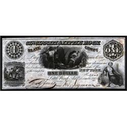 Arkansas. Cincinnati & Little Rock Slate Company Obsolete Banknote.