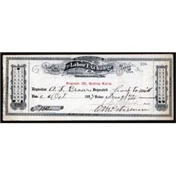 Kansas Labor Exchange Certificate.