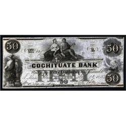 Massachusetts. Cochituate Bank Obsolete Banknote.