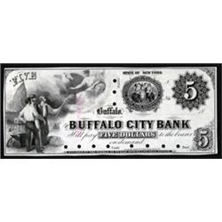 New York. Buffalo City Bank Obsolete Proof Note.