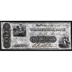 New York. Commercial Bank Obsolete Banknote - Draft.