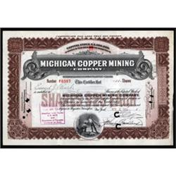 Michigan Copper Mining Stock.
