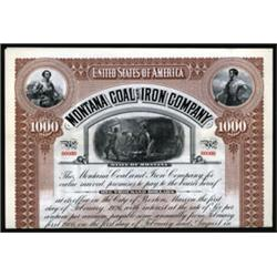Montana Coal and Iron Company Specimen Bond.
