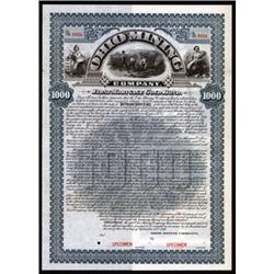 Ohio Mining Company Specimen Bond.