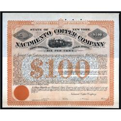 Nacimiento Copper Company Specimen Bond.