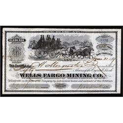 Wells Fargo Mining Co. With Stage Coach Vignette