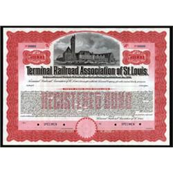 Terminal Railroad Association of St.Louis Specimen Bond.