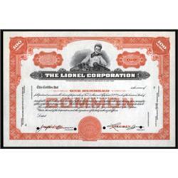 Lionel Corporation Specimen Stock.