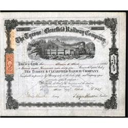 Tyrone and Clearfield Railway Co. with J.Edgar Thompson Signature.