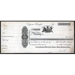 Chartered Mercantile Bank of India, London & China Proof Certificate of Deposit.