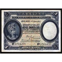 Hongkong & Shanghai Banking Corporation, 1926-27 Issue.