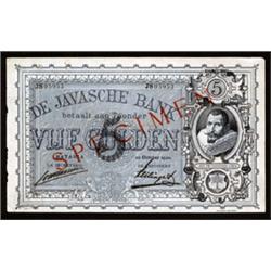 De Javasche Bank - 1901 Issue.