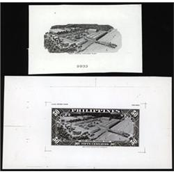 Central Bank of the Philippines Essay Banknote Proof Vignette and Production Material.