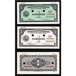 Central Bank of the Philippines Essay Banknote Set of 3.