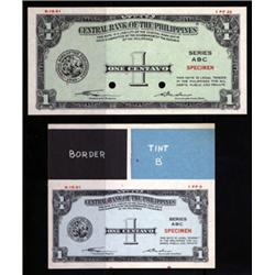 Central Bank of the Philippines Essay Banknote Trio in 3 Different Sizes.