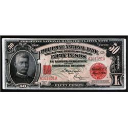 Philippine National Bank Circulating Note Pair, 1916-20 Regular Issue.
